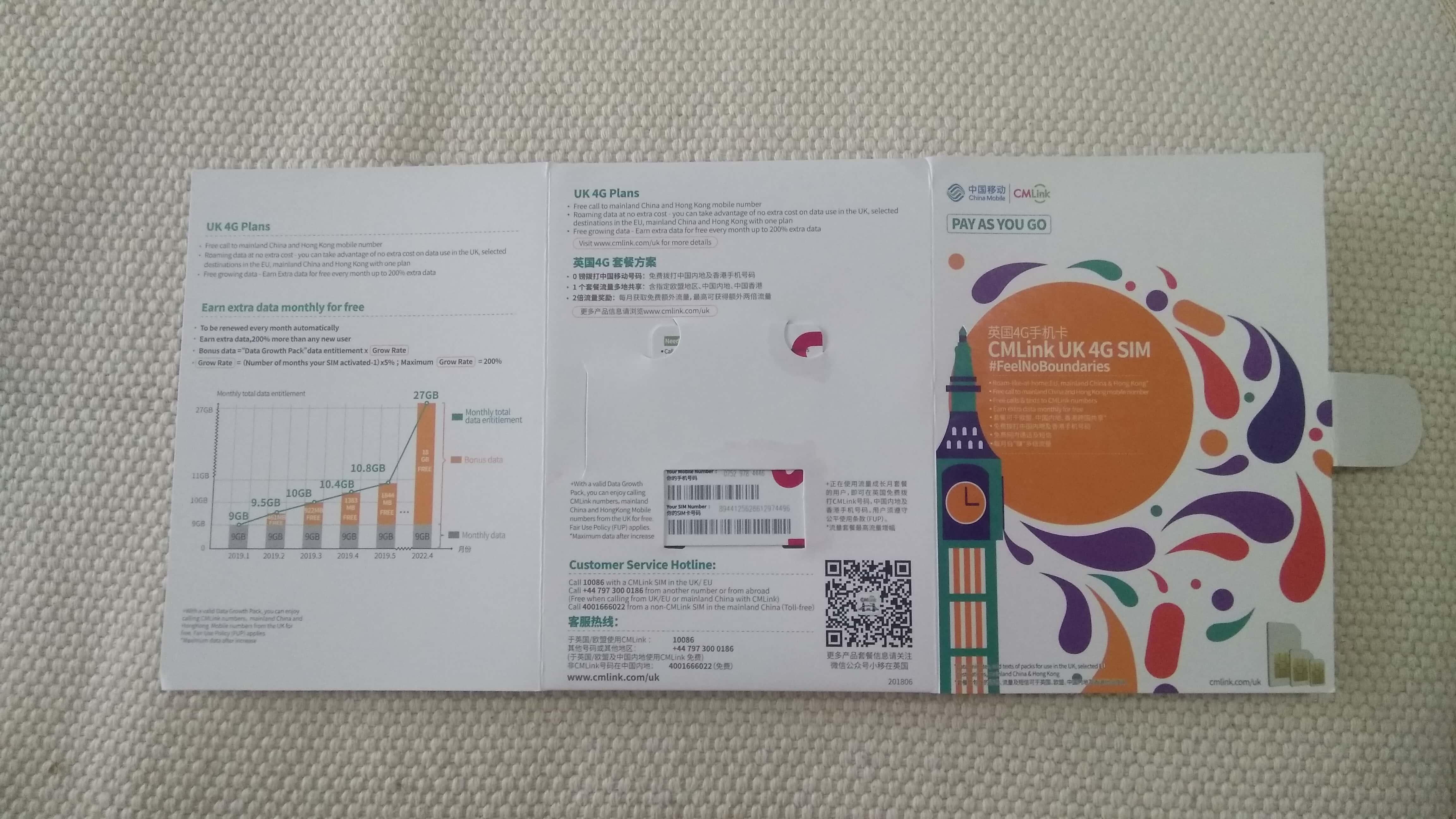 CMLink英国电话卡 免费申请! 推荐 第4张